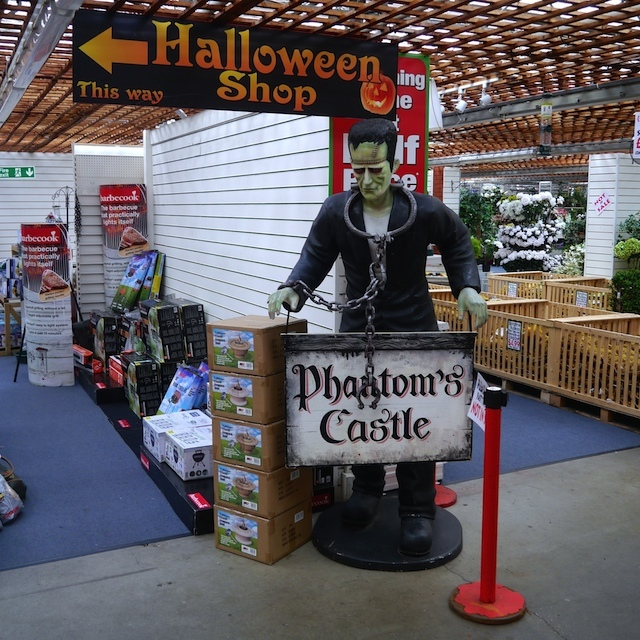 .. but it has the best Halloween shop we've ever seen.