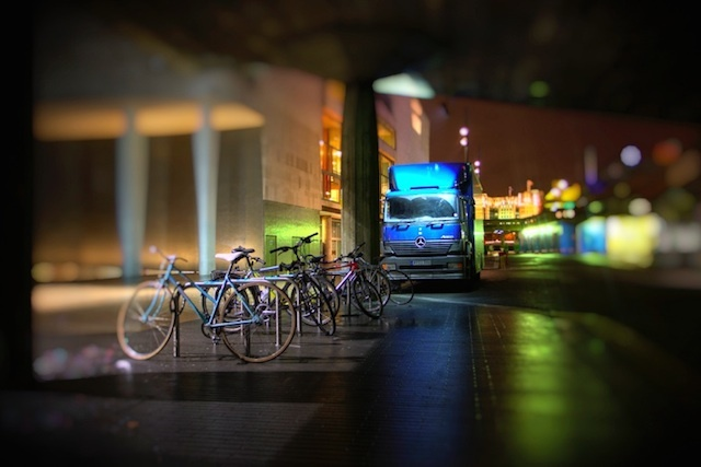 Night bikes. Photo by Dean Bedding.