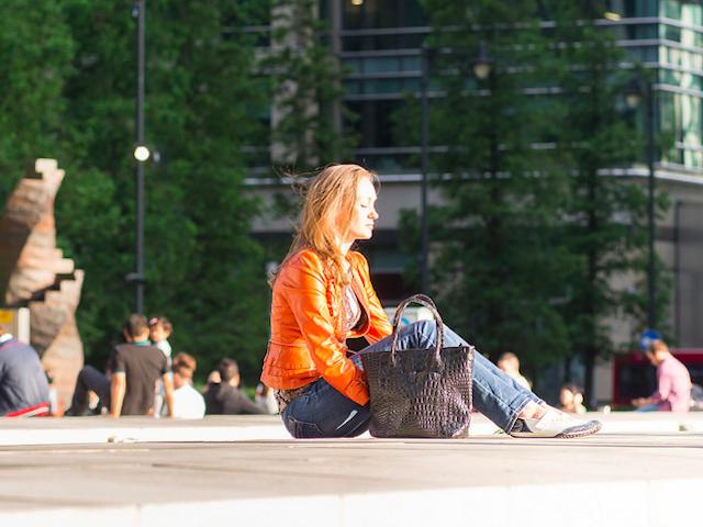 Girl in orange, by Magic Pea