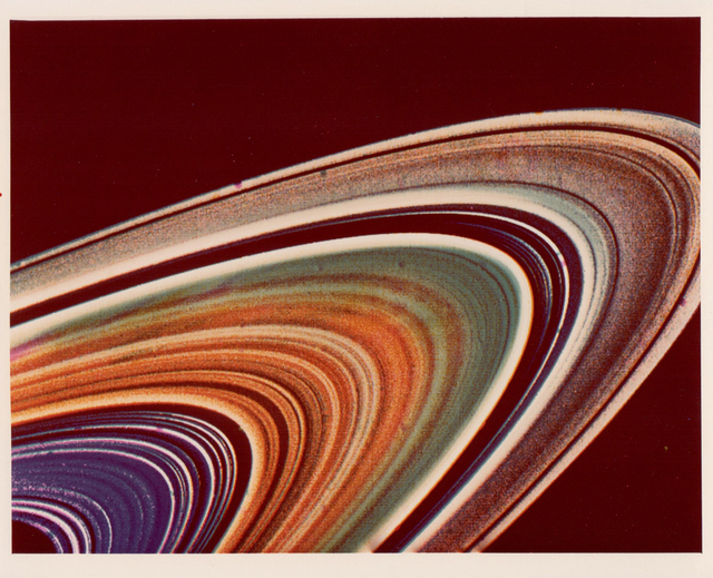 Segment of Saturn's rings, Voyager 2, 1981, NASA-JPL, BREESE LITTLE