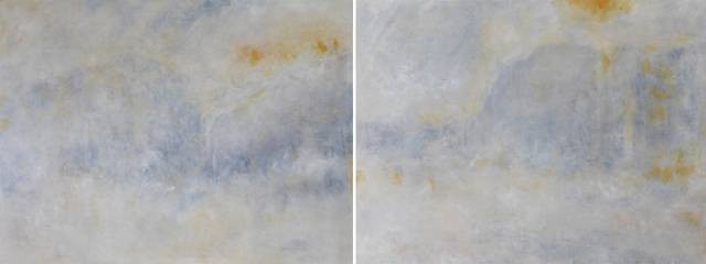 Richard Stone, there were fireworks in the sky (diptych), 2014. Image courtesy of the artist and Kristin Hjellegjerde