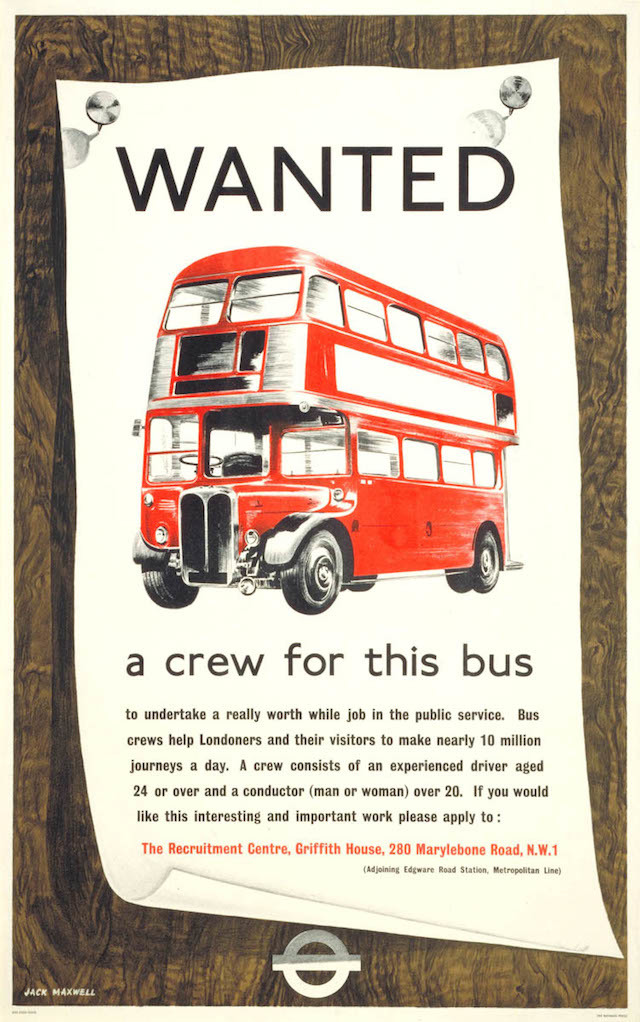 Wanted A Crew For This Bus, by Jack Maxwell, 1955