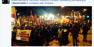 Protestors Fill North London Streets In Support Of Kurds Fighting IS