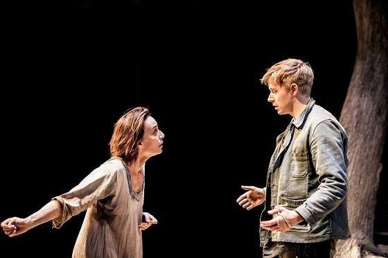Kristin Scott Thomas as Electra and Jack Lowden as Orestes. Image: Johan Persson