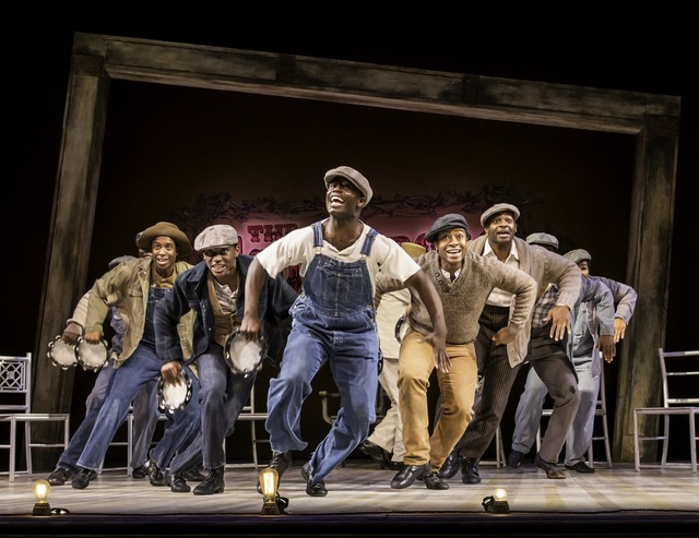 THE SCOTTSBORO BOYS by Kander and Ebb,         , Music and Lyrics – John Kander and Fred Ebb, Book – David Thompson, Director – Nigel West, Choreography -Susan Stroman, Set design – Beowulf Boritt, Costumes – Toni – Leslie James, Lighting – Ken Billington, The Garrick Theatre, London, 2014, Credit: Johan Persson/