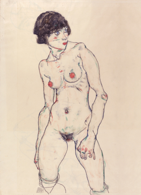 Standing Nude with Stockings, 1914. Germanisches Nationalmuseum, Nuremburg