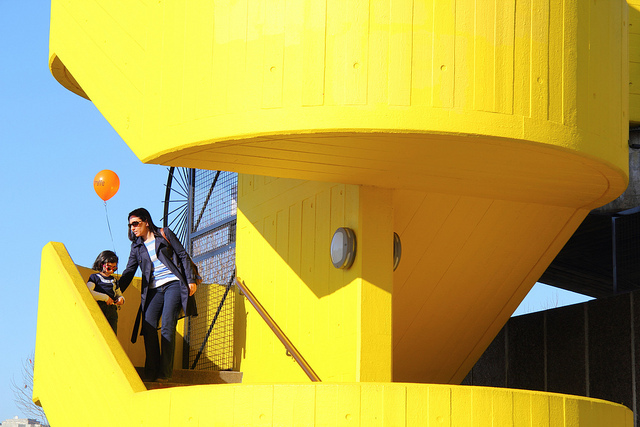 Colour coordination at the Southbank, by Jon Spence.