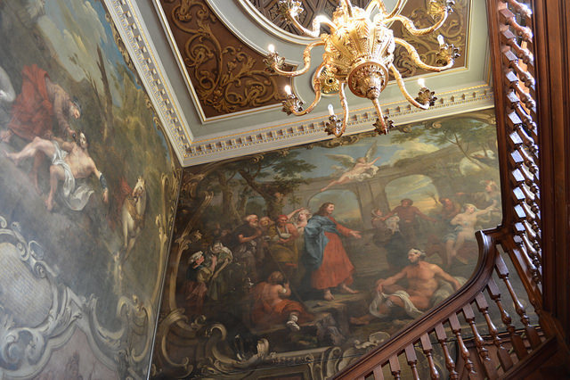 Hogarth contributed these marvellous wall paintings to the staircase at St Bart's Great Hall. The murals can be seen from the hospital's museum, which is worth a visit in its own right.