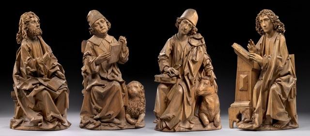 The four evangelists by Riemenschneider (St John), St. Mark, St. Matthew and St Lucas, 1490-1492 © Staatliche Museen/ Museum fuerByzantinische Kunst