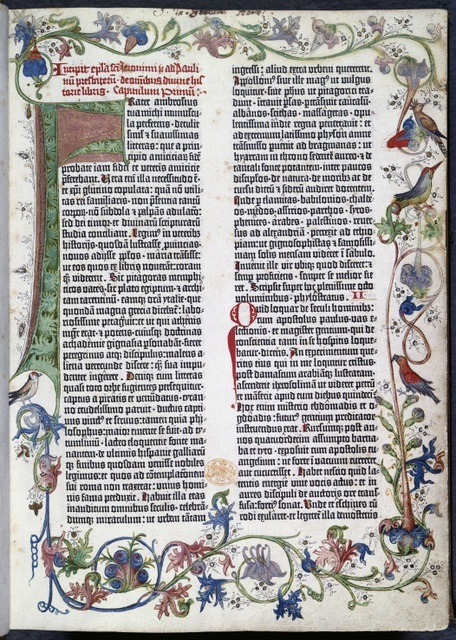 Gutenberg Bible - the first book to be mass produced using a printing press. © British Library Board