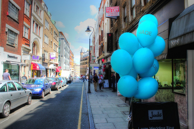 Street balloons, by Clive Wright.