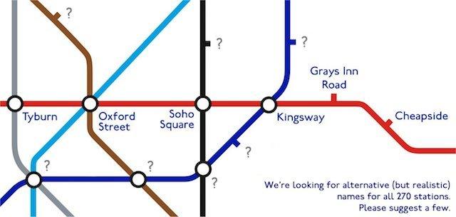 Help Us Create A New Map Of Alternative Tube Names
