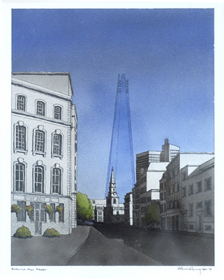 Bill Hanway shows the Shard melting into the sky.