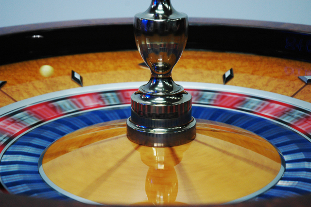 Rob and Nick Carter's ever spinning Roulette wheel. Image courtesy the artist and Fine Art Society.