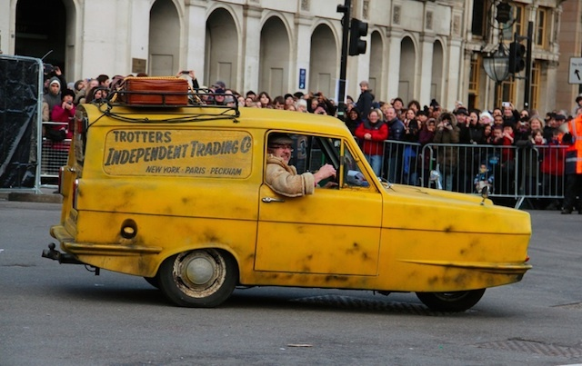 Del Boy makes an appearance at the 2013 New Year's Day Parade. Photo: Martin Stitchener