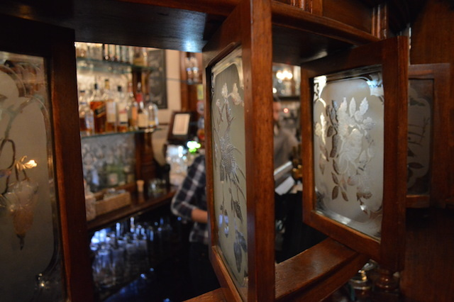 Snob screens - these were once used so that the customer and bar staff need not look at each other.