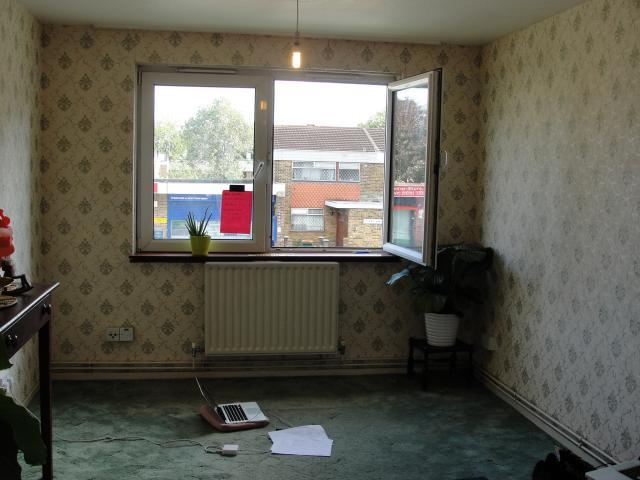 Inside one of the Doran Walk flats
