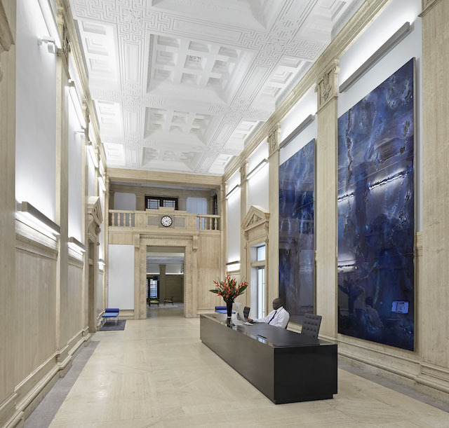 The main lobby of Bush House has been restored to its former glory. Courtesy of Hufton+Crow.