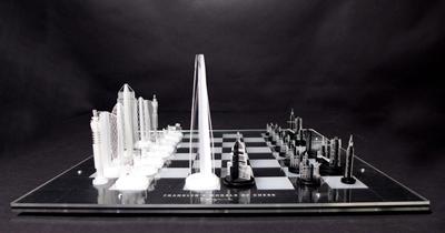 London chess set, by Karl Singporewala.
