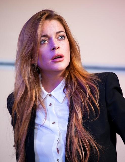 Lindsay Lohan. Photo by Simon Annand.