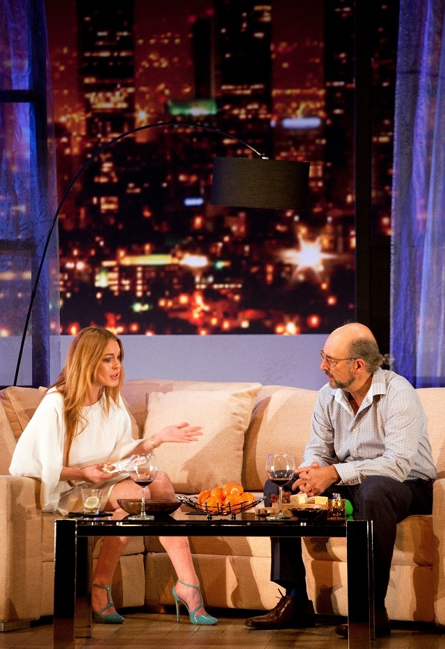 Lindsay Lohan and Richard Schiff. Photo by Simon Annand.