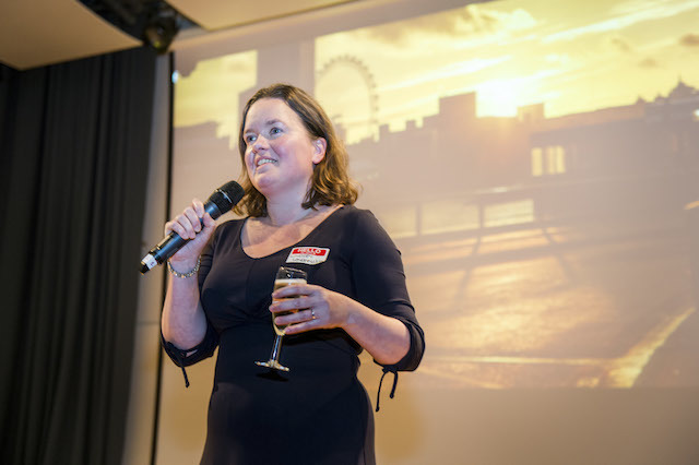 Londonist Managing Director Lindsey Clarke proposes a toast