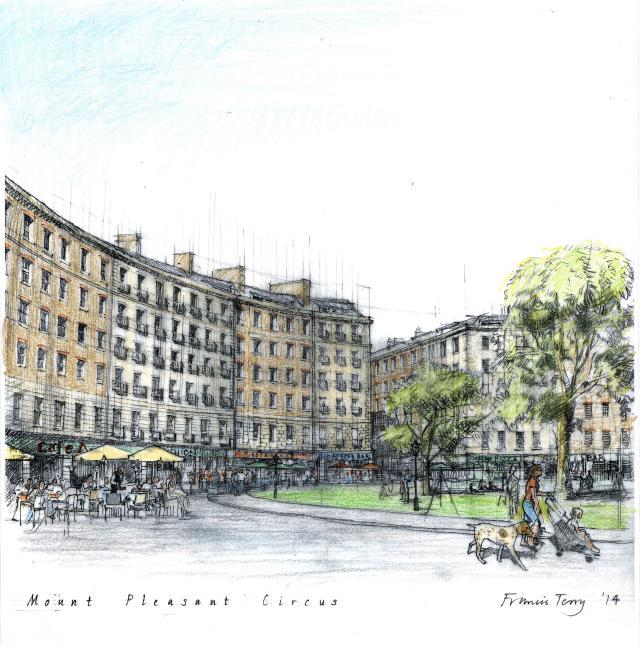 An alternative vision for Mount Pleasant, by architect Francis Terry for the Mount Pleasant Association.