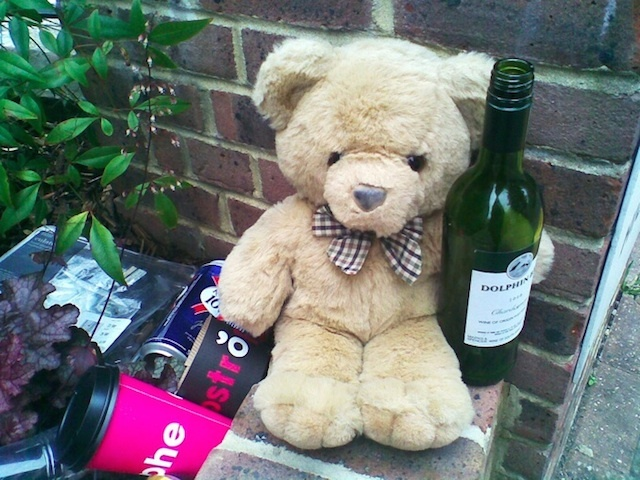This little guy was spotted after surviving Notting Hill Carnival 2009. *hic* Photo: Stephanie Sadler