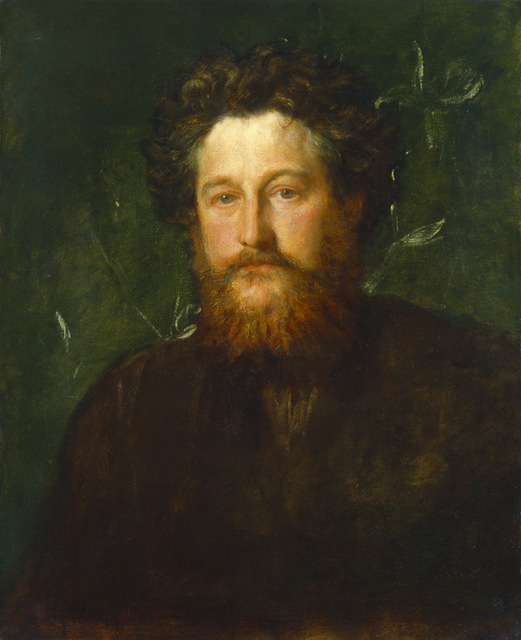William Morris by G F Watts, 1870. Copyright: National Portrait Gallery, London