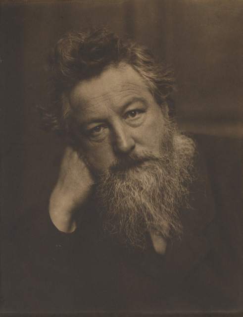 William Morris by Frederick Hollyer, 1884. Copyright: National Portrait Gallery, London