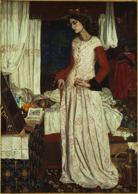 La Belle Iseult by William Morris, 1858. Copyright: Tate 2014
