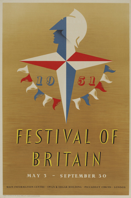 Festival of Britain poster by Abram Games, 1951. Copyright: V & A, London 2014