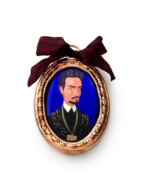 Rylan Clark, an X-factor contestant and winner of Celebrity Big Brother is re-imagined as the Earl of Essex. Image courtesy Grayson Perry and Victoria Miro