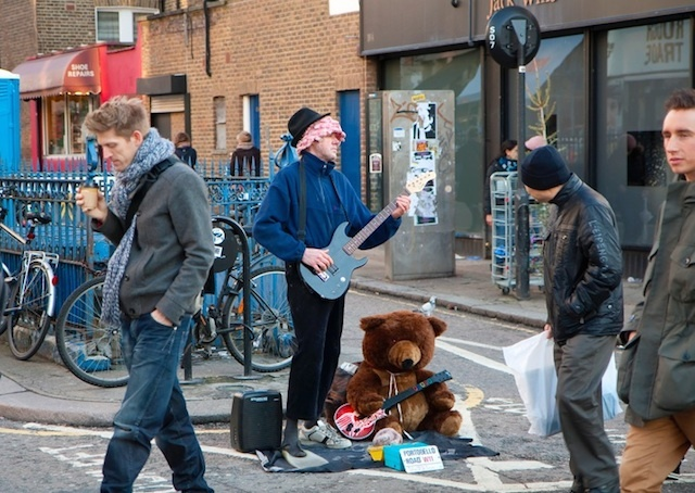This bear was spotted busking in Portobello Road Market in 2011. Photo: Gurpreet