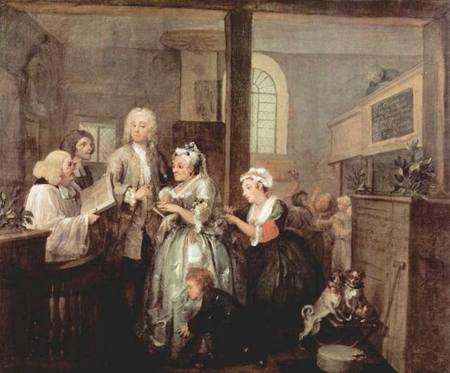 A Rake's Progress is among Hogarth's most famous works. This piece, and its companion paintings, can be seen at Sir John Soane's Museum in Holborn.