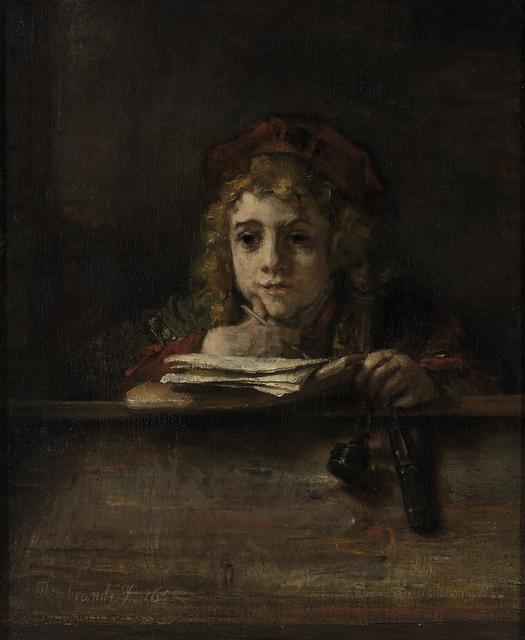 Titus (Rembrandt's son) at his Desk, 1655 © Museum Boijmans Van Beuningen, Rotterdam