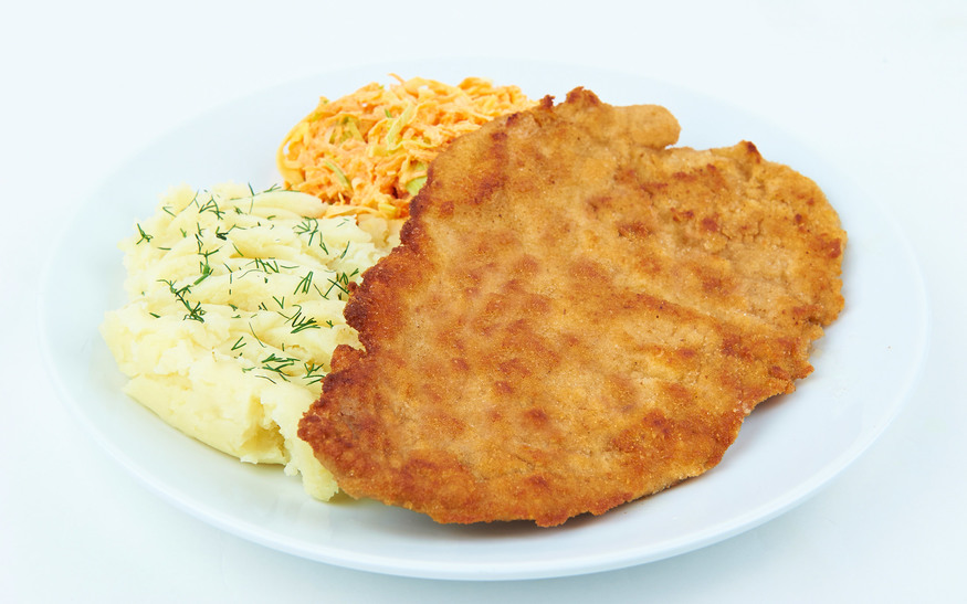 Schabowy - breaded pork. Image courtesy of Mamuska!
