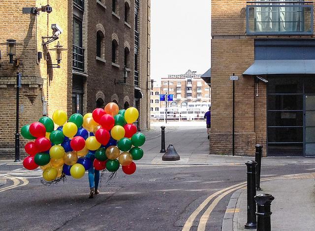 Bermondsey balloons, by Rob Telford,