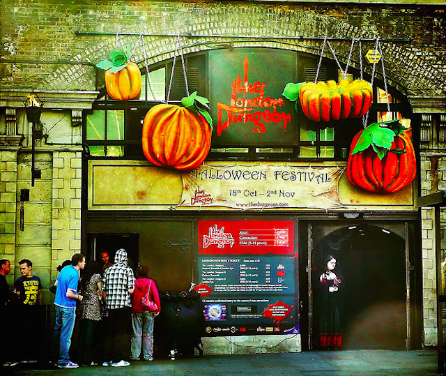 The old London Dungeon gets into the Halloween spirit, by Kathy Archbold