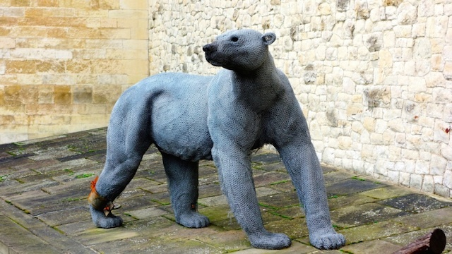 The animal sculptures at the Tower of London are by artist Kendra Haste. Photo: Pikakoko