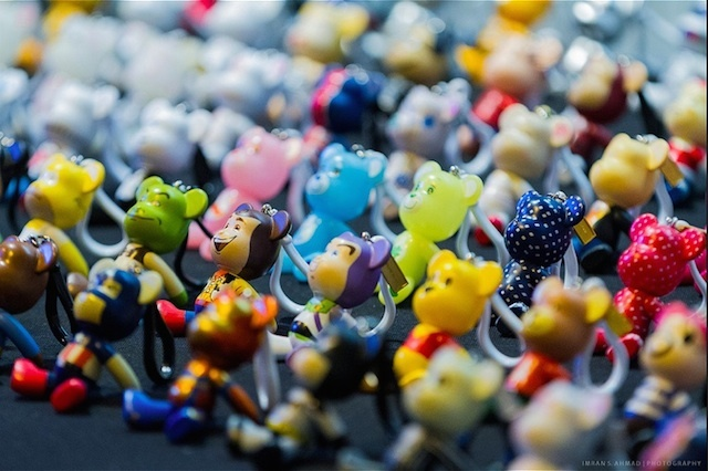 These colourful - if slightly alarming -  trinkets were spotted in Camden. Photo: Imran Ahmad