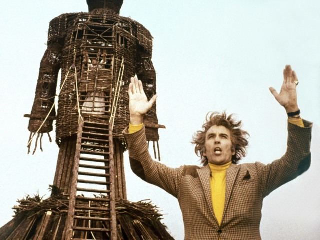 Wicker Man, The (1973) | Pers: Christopher Lee | Dir: Robin Hardy | Ref: WIC007BM | [ The Wicker Man (1973), FILM Copyright © 1973 STUDIOCANAL FILMS LTD. ALL RIGHTS RESERVED / THE KOBAL COLLECTION ] | Editorial use only related to cinema, television and personalities. Not for cover use, advertising or fictional works without specific prior agreement