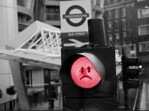 sad traffic light