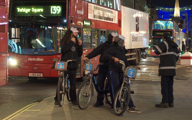 Masks on bikes