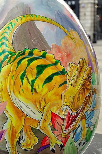 This artwork by Rolando Di Sessa Neto was part of the 2012 Big Egg Hunt in Covent Garden. Photo by Christina