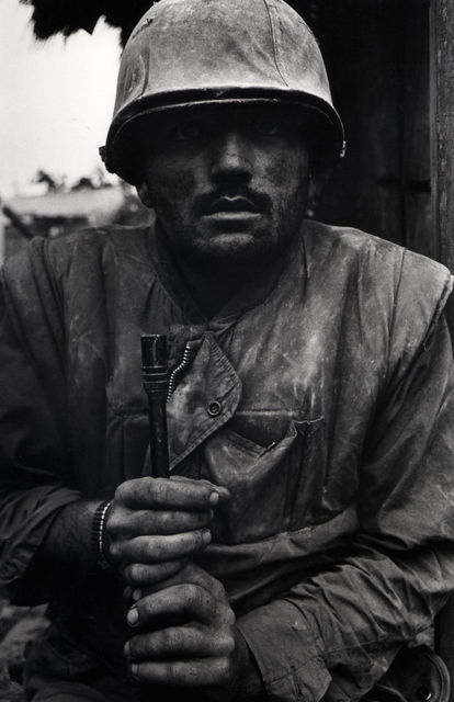 This shell shocked US marine has become an iconic war photographs. © Don McCullin.