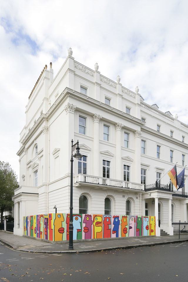 thierry noir paints up the german embassy londonist. Black Bedroom Furniture Sets. Home Design Ideas