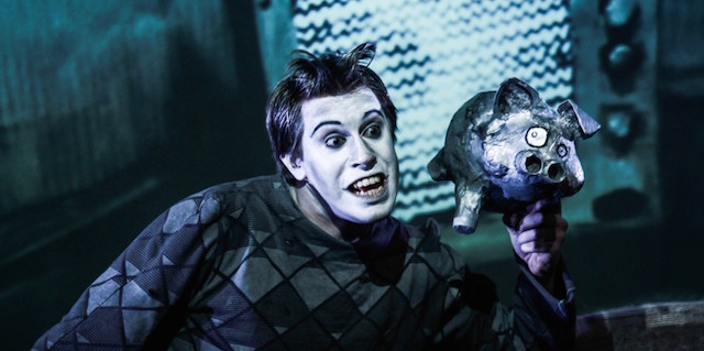 The Boy Who Kicked Pigs: a grisly tale featuring beautiful projections, music and more than eight hats