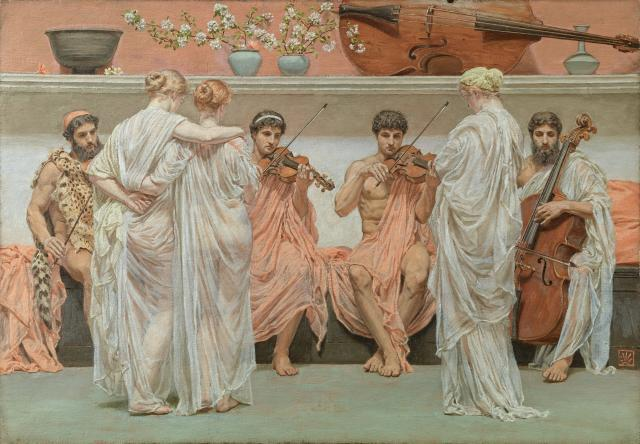 Albert Moore. A Quartet – A Painter's Tribute to the Art of Music (1868). Oil on canvas.