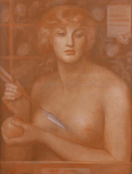 Dante Gabriel Rossetti. Venus Verticordia. (1867). Oil on canvas.